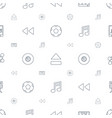 multimedia icons pattern seamless white background vector image vector image