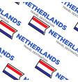 netherlands or holland travel destination seamless vector image vector image