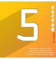 number five icon symbol Flat modern web design vector image