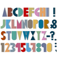 Paper font numbers and punctuation mark with vector image vector image