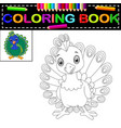 peacock coloring book vector image vector image
