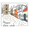 prague colored hand drawn sketch vector image vector image