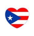 puerto rico flag in a shape heart icon flat vector image vector image
