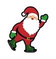 santa cartoon icon Merry Christmas design vector image vector image
