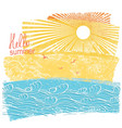 sea waves and sun sea landscape vector image vector image
