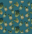 seamless pattern with fennel vector image