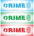 set of crime fingerprint vector image vector image