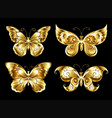 set of jewelry butterflies vector image vector image