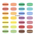 Set of sweet macarons vector image