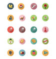 Shopping Flat Colored Icons 5 vector image vector image