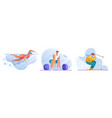 sport activities flat set vector image