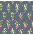 Spring wild flower bouquet seamless pattern vector image vector image