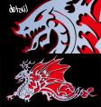 steel dragon cutout vector image vector image