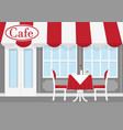 street cafe with red vector image vector image