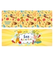 Summer holidays banners set templates for vector image vector image