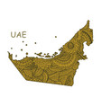 textured map uae hand drawn ethno vector image vector image