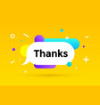 thanks banner speech bubble poster and sticker vector image vector image