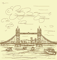 tower bridge vintage vector image vector image
