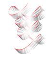 twisted shining ribbons vector image