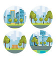 urban cityscapes set scenes vector image