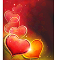 Valentine Day Heart on red Background vector image vector image