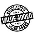 value added round grunge black stamp vector image vector image