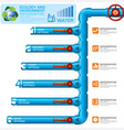 water pipeline ecology and environment business vector image