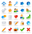 web community icons vector image vector image