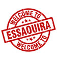 welcome to essaouira red stamp vector image vector image