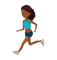 woman running character athlete vector image