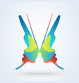 womans face in butterfly wings shape abstract vector image vector image