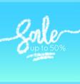 word sale is written in sky realistic vector image vector image