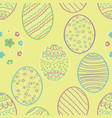yellow easter seamless vector image