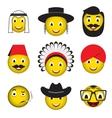 Avatar emoticons emoji smiley icons vector image
