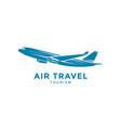 flying airplane emblem vector image