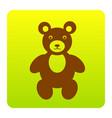 teddy bear sign brown icon vector image