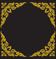 3d golden carve thai pattern vector image vector image