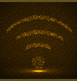 abstract sign wifi glowing particles vector image vector image