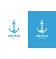 anchor logo combination marine vector image