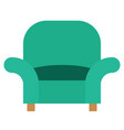 armchair icon with flat style eps10 vector image