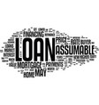 assumable loans and resale value text background vector image vector image
