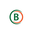 b company logo template design vector image vector image