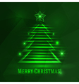 Background with shiny fir tree vector image vector image