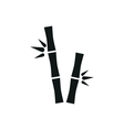 bamboo stems simple icon on white background vector image
