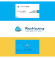beautiful cloud circuit logo and business card vector image