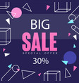 big sale banner up to 30 percent off template vector image