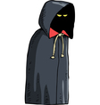 black cloak vector image