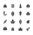 black leaves symbols autumn plants vector image vector image