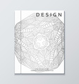 Book with silver mandala Realistic brochure gray vector image