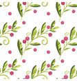 branch of cranberries with berries pattern vector image